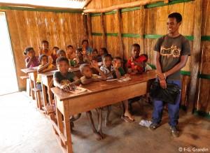Salle de classe à Vohitrarivo