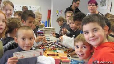 Succès de la collecte organisée par les enfants de Mervent !