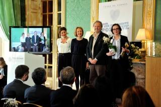 Notre Présidente gagnante du prix Terre de Femmes de la Fondation Yves Rocher!