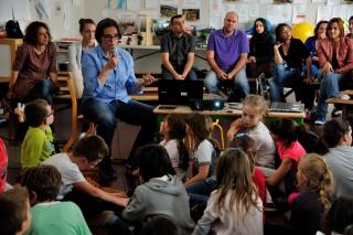 Rencontre avec les enfants de l'école de Mervent