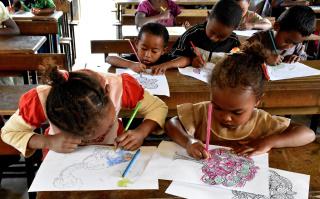Activités pédagogiques à l'école de Sahofika