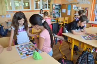 Atelier pédagogique à l'école de Mervent