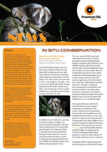 Prosimian TAG Newsletter No. 17